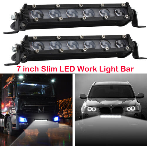 Pair LED Work Light Bar Spot Beam 8 inch 60W Driving Lamp For Car Boat Truck