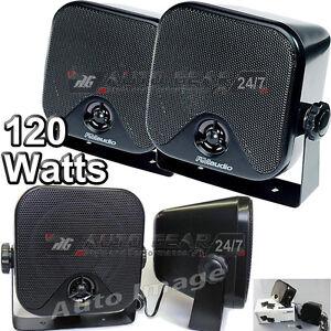 RMS620-120-Watts-2-Way-Car-Van-Motorhome-Boat-Pod-Shelf-Speakers-With-Brackets