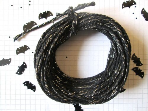 10 20 or 30mt of 2mm Thick Black Sparkle Cotton  Bakers Twine  Hallowe/'en