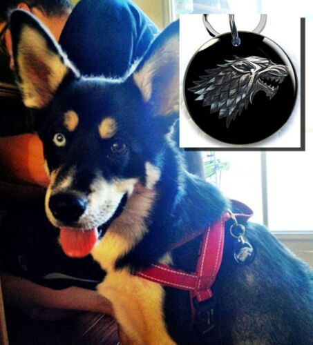 Stark wolf purple Game of Thrones GOT dog cat custom tag for pets Arya Sansa