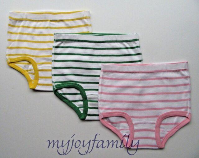 HANNA ANDERSSON Organic Unders Underwear Briefs Stripe L 140 150 10 12 NWT