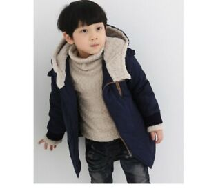 Child-Kids-Boy-Winter-Warm-Heavy-Hooded-Coat-Thick-Jacket-padded-Tops