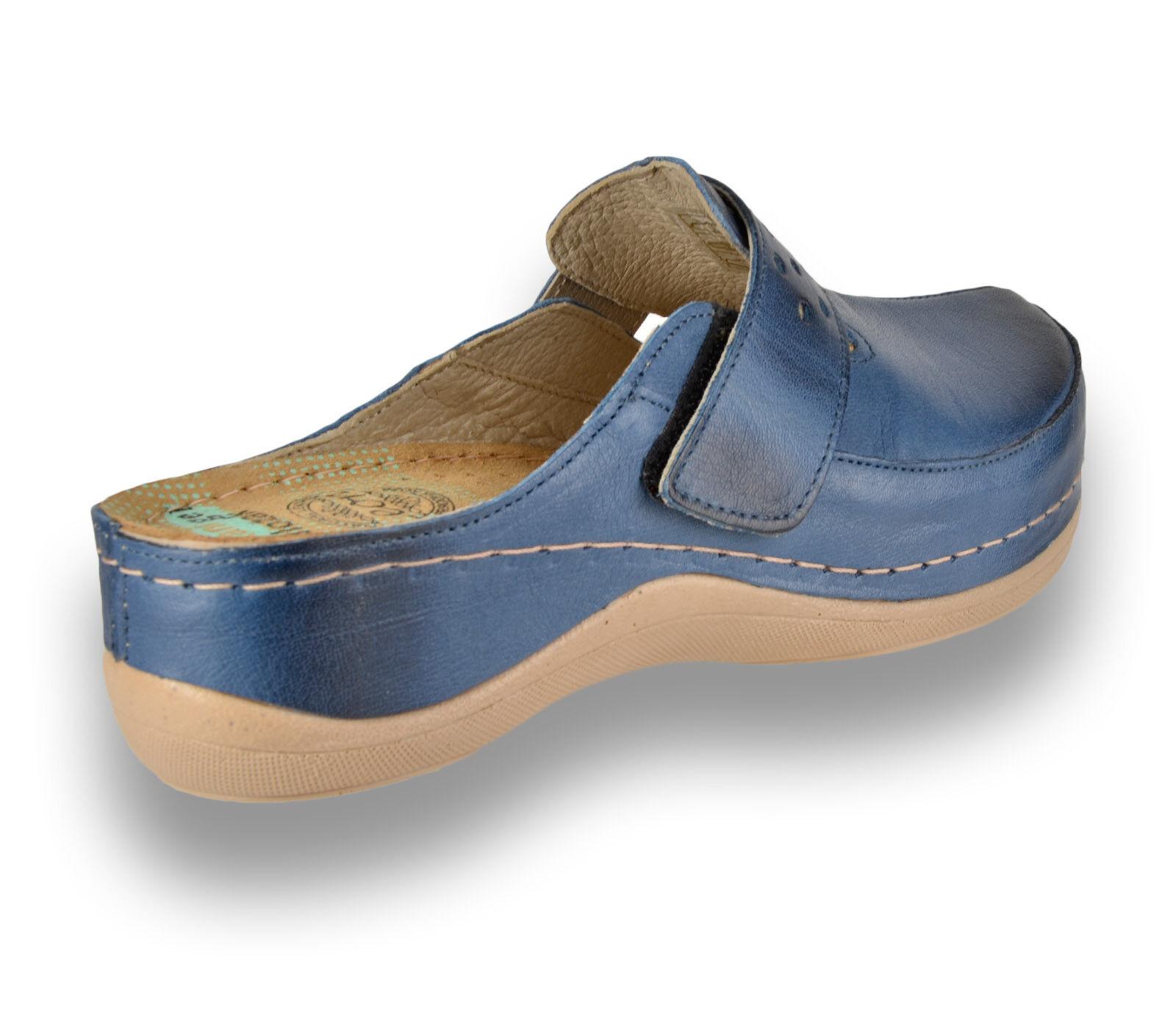 0796a32a Leon 902 Damas Mujeres Zuecos Cuero Slip On Mulas Zapatillas Sandalias,  Azul Nuevo Reino Unido 62c371 - higrotemper.es