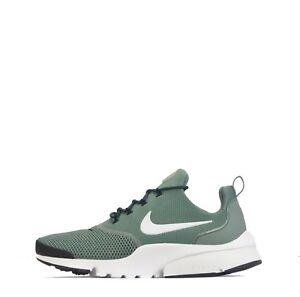 Detalles de Nike Presto Fly Hombre Zapatillas en Arcilla VerdeBlanco