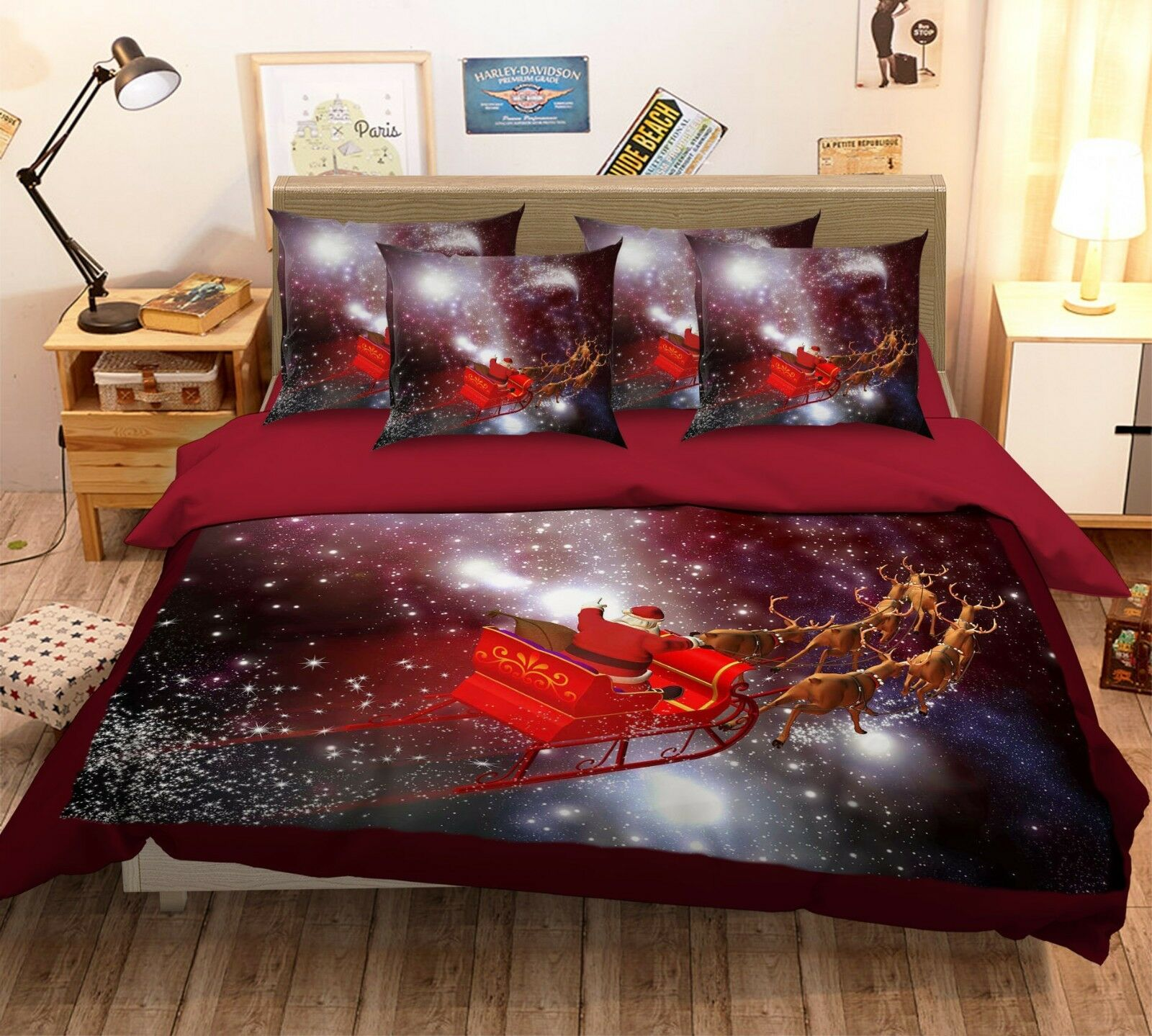 3D Shiny Sky 203 Bett Pillowcases Quilt Duvet Startseite Set Single Königin König Größe AU