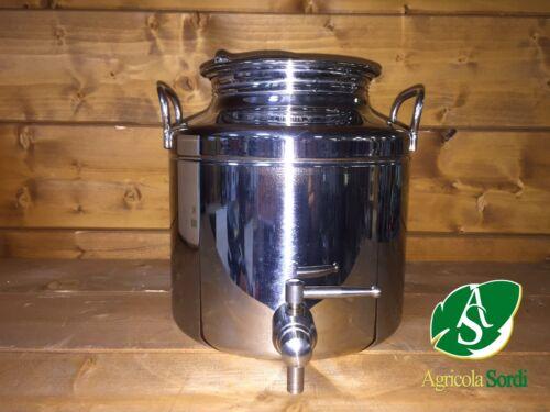 Fusto olio acciaio inox litri 5 rubinetto incluso Contenitore bidone arredo