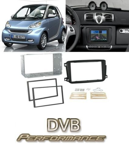 2010 On CT23MM02 Smart Fortwo Double Din Facia Kit