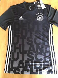 Details zu adidasDFB Deutschland TrikotPre MatchShirt schwarzGrM2016NEU mit Etikett