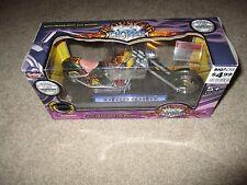 Boley Diecast Monster Chopper Motorcycle 2004 Flame Chopper Green MISB 1:12