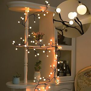 Details About Decor Lights Fairy Led Globe String 72 Bulbs For Bistro Cafe Christmas