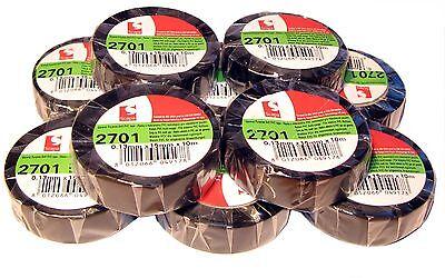 10x TESA PVC Isolierband Bunt sortiert kfz 15mm x10m Iso Tape Isoband MwSt 1
