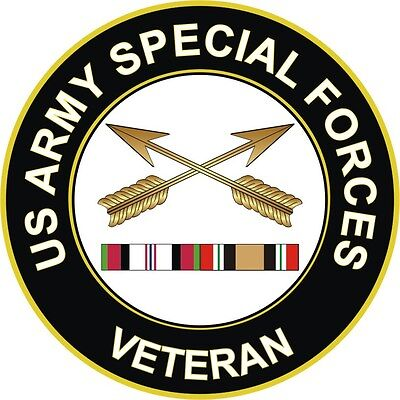 """Army Special Forces Afghanistan Iraq Veteran 5.5/"""" Sticker  /'Officially Licensed/'"""