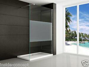 walkin 10mm glas duschwand duschabtrennung dusche duschtrennwand satiniert nano ebay. Black Bedroom Furniture Sets. Home Design Ideas