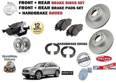 FOR INFINITI FX30 3.0DT FX37 3.7 FX50 5.0 S51 2009--/> NEW FRONT BRAKE PADS SET