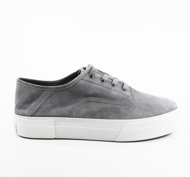 VINCE Women's Suede Platform Lace-Up Sneakers Grey