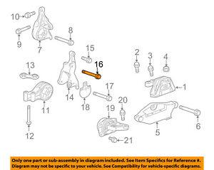 GM OEM Engine Mounting-Mount Bracket Bolt 11516330