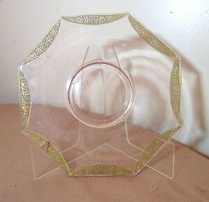 Antique bohemian CZECH MOSER gravée or doré rose améthyste plaque de verre-afficher le titre d`origine ohgZ05ou-09160357-488918134