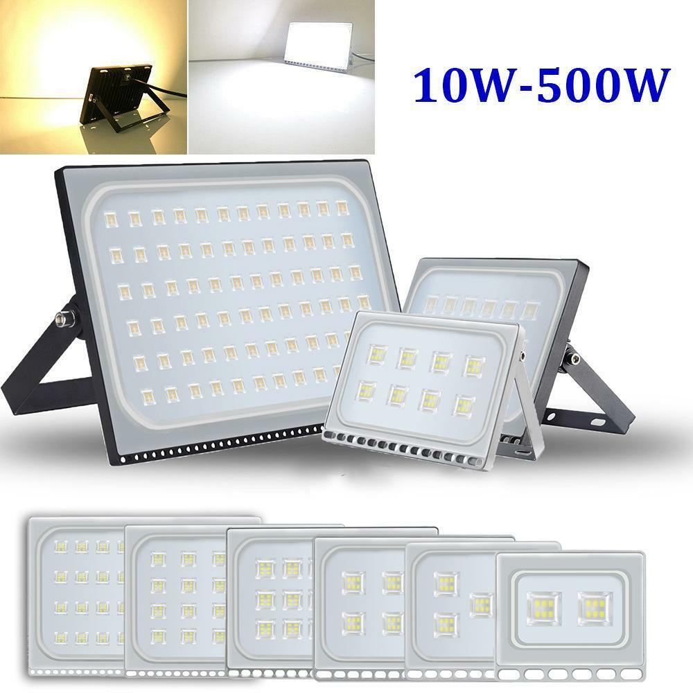 LED Fluter UltraDünn Flutlicht Strahler Außen Scheinwerfer 10W 20W 50W 100W 500W