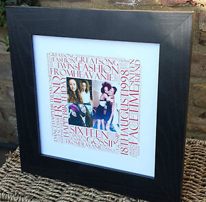 Personalised-Birthday-Picture-039-Square-039-Word-Art-Gift18th-21st-30th-40th-50th-etc