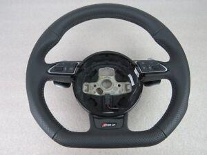Audi-rs7-4g-Facelift-3-radios-volante-de-cuero-con-DSG-cuero-perforada-a452