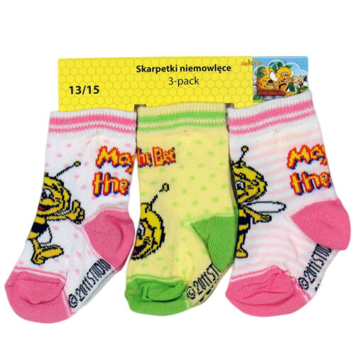 13//15 16//18 Tg APE MAJA BABY Calze Calze nel pacco 3er Maya the Bee