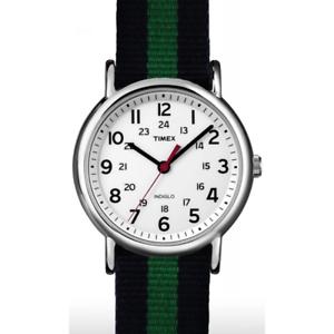 Orologio-TIMEX-ref-ABT746-uomo-solo-tempo-con-cinturino-in-tessuto-blu-e-verde
