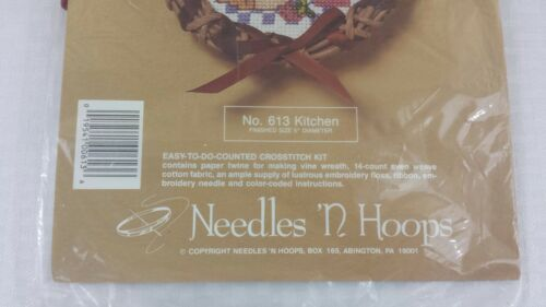 Counted Cross Stitch No 613 Kitchen Wreath by Needles /'N Hoops