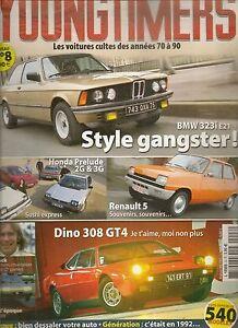 YOUNGTIMERS 8 BMW 323i E21 HONDA PRELUDE R5 DINO 308 GT4 CHRYSLER 2 L CITROEN BX