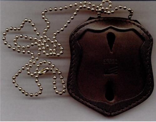 Badge Not Included NY /& NJ PD-Style Officer Badge CutOut Neck Hanger//Belt Clip