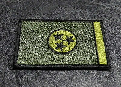 MTT4 Tennessee TN State Flag Morale Hook Fastener Patch