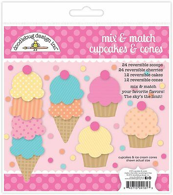 Doodlebug Design Cream and Sugar Sprinkles Enamel Shapes Cake 5457 2017