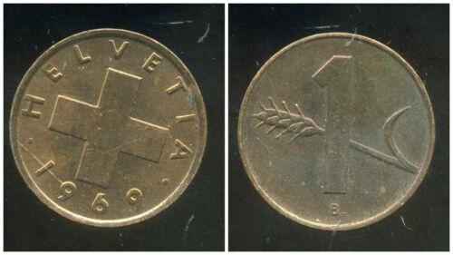 SWITZERLAND  SUISSE  1 rappen 1969 etat