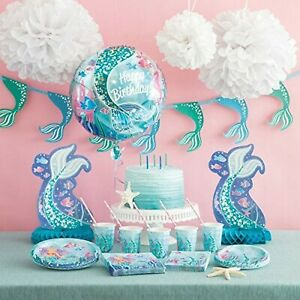 Kinder-Geburtstag-Party-Deko-Dekoration-Meerjungfrau-Mermaid-Auswahl-Set