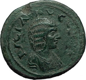 JULIA-DOMNA-Ancient-193AD-Stobi-in-Macedonia-Roman-Coin-w-NIKE-VICTORY-i66520