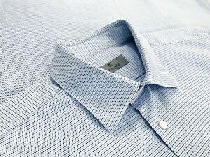 Current-Canali-1934-Mens-100-Cotton-Button-Up-Dress-Shirt-Blue-Dots-Size-17