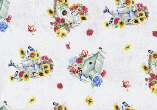 Fat Quarter Dream Garden Cream  Cotton Quilting Fabric  50cm x 55cm