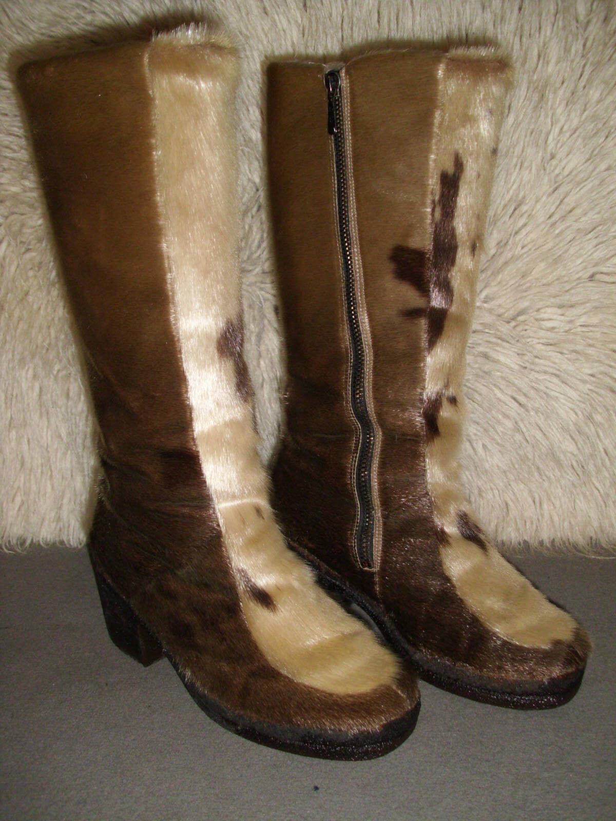 Seltene schöne warme Echt Seehundfell Fellstiefel Gr. 5  Stiefel ~ Größe 38