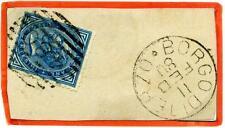 ITALIA - Regno - 1880 - Da Borgo di Terzo/Bg -  10 c. azzurro - V. Emanuele II