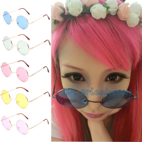 Retro Vintage Unisex men Women Round Frame Sunglasses Eyewear Shades UV400 Lens