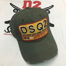 ***2017 New Dsquared2 DSQ2 Khaki Baseball Cap***