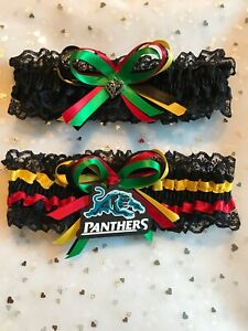 Cronulla Sharks NRL Licenced tag on Brides Wedding garter set Made all sizes