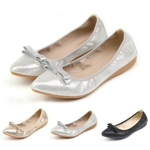 Newly-Women-Foldable-Ballet-Flats-Cosy-Sole-Slip-On-Lady-Comfort-Shopping-Shoes