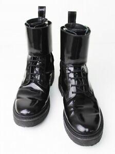 BALMAIN H\u0026M MEN'S Black Patent Leather