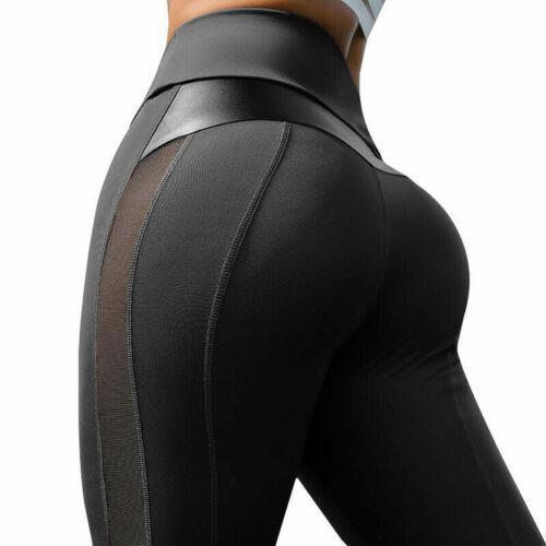 Yogahosen Hosen Gespleißt Training Fitness Sport Fitnessstudio Stretch