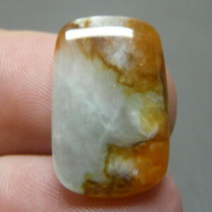 Feng Shui 10.0 Carats Natural Genuine Jadeite JADE Brown-White Fancy Cabochon