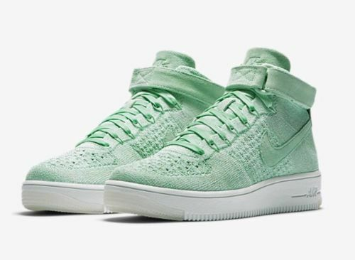 ... italy nike air enamel force 1 af1 flyknit womens shoes mid enamel air  green 818018 301 39c385105