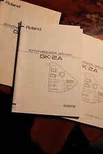 Roland GK-2A Pickup Manual, In Very Good Condition, OEM Manual