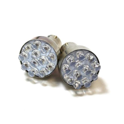 2x Red 11-LED [BA15S,382,1156,P21w] 12v Stop/Brake/Fog Light Bulbs