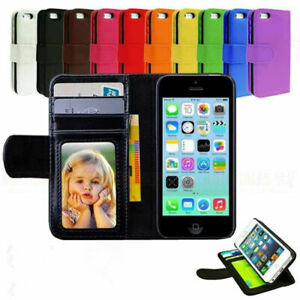 Leather-Magnetic-Flip-Folio-Card-Case-Slot-Wallet-Stand-Purse-For-iPhone-Samsung