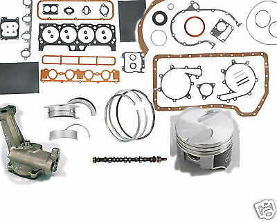 Mercruiser Marine 470 224ci 3.7L MASTER Engine Kit Pistons Cam gaskets bearings